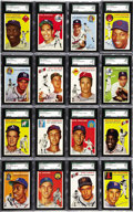 Baseball Cards:Sets, 1954 Topps Baseball High Grade Complete Set (250). High-powered rookies have established the 1954 Topps issue as a collecto...