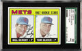 Baseball Cards:Singles (1960-1969), 1967 Topps Tom Seaver Rookie #581 Mint SGC 96. Of the 176 Topps TomSeaver rookie cards submitted to SGC, only four (none hi...