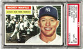Baseball Cards:Singles (1950-1959), 1956 Topps Baseball Mickey Mantle #135 PSA NM-MT 8. Mickey Mantleplayed 18 seasons with the New York Yankees; none more mem...