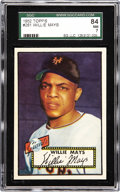 Baseball Cards:Singles (1950-1959), 1952 Topps Willie Mays #261 SGC 84 NM 7. A Hall of Fame rookie fromone of the hobby's most celebrated sets. While Willie ...