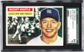 Baseball Cards:Singles (1950-1959), 1956 Topps Mickey Mantle #135 SGC 84 NM 7. This bright Toppsspecimen dated from Mantle's Triple Crown-season features a pe...
