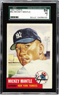 Baseball Cards:Singles (1950-1959), 1953 Topps Mickey Mantle #82 SGC 84 NM 7. Mantle homered twice inthe Yankees 1953 World Series victory over the crosstown B...