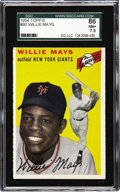 Baseball Cards:Singles (1950-1959), 1954 Topps Willie Mays #90 SGC 86 NM+ 7.5. The 1954 baseball season ended with the New York version of the Giants winning th...