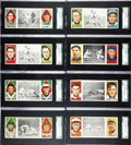 Baseball Cards:Lots, 1912 T202 Hassan Triple Folders SGC-Graded Collection (8). Eachcard has been graded by SGC. Offered are eight different ...