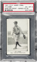 Baseball Cards:Singles (Pre-1930), 1921 E121 American Caramel Ty Cobb, Manager on Front Series Of 80PSA EX-MT 6. This card is extracted from the scarce Americ...