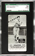 Baseball Cards:Singles (1930-1939), 1934 Zeenut PCL Joe DiMaggio with Coupon SGC 30 Good 2. Long beforeJoe met Marilyn, he carved a path that Ted Williams wou...