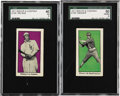 Baseball Cards:Lots, 1911 Bishop & Co. PCL Type 1 (E100) Collection (2). The cardsfrom this seldom-seen set were issued by the confectioner Bish...