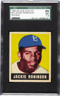 Baseball Cards:Singles (1940-1949), 1948-49 Leaf Jackie Robinson #79 SGC 86 NM+ 7.5. Jackie Robinson isone of the most significant ballplayers ever to step on...