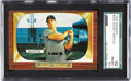 Baseball Cards:Singles (1950-1959), 1955 Bowman Mickey Mantle # 202 SGC 92 NM/MT+ 8.5. Between thefrequent print defects and the dark borders of the 1955 Bowm...
