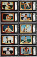 Baseball Cards:Sets, 1955 Bowman Baseball SGC Graded Partial Set (112/320) . A total of112 different cards (with an aggregate SMR value of $7,22...
