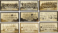 Baseball Cards:Lots, 1913 T200 Fatima Team Cards Collection (9). Please note updatedgrades in copy. Issued by Ligget & Myers Tobacco Co. in...