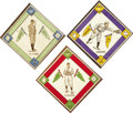 Baseball Cards:Lots, 1914 B18 Blanket Trio Featuring Joe Jackson, Ty Cobb and WalterJohnson (3). These three, no doubt, would have been the corn...
