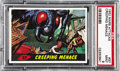 Non-Sport Cards:General, 1962 Mars Attacks Creeping Menace #37 PSA Mint 9. A massivered-eyed insect lays waste to suburbia as a family scrambles fo...