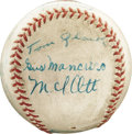 Autographs:Baseballs, 1935 New York Giants Team Signed Baseball. Essentially the sameteam that would capture the flag each of the next two seaso...