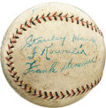 Autographs:Baseballs, 1935 Chicago Cubs Team Signed Baseball. Since before the FirstWorld War, only a single Cubs team has posted triple-digits ...