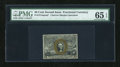 Fractional Currency:Second Issue, Fr. 1314SP 50c Second Issue Narrow Margin Face PMG Gem Uncirculated 65 EPQ....