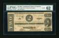 Confederate Notes:1862 Issues, T54 $2 1862. Cr 391.. ...