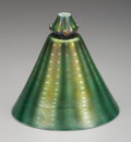 Art Glass:Tiffany , AN AMERICAN ART GLASS SHADE. Tiffany Studios, Corona, New York,Circa 1900. Marks: LCT, Favrile . 6-1/4 inches (15.9 cm)...