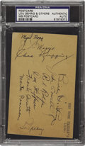Autographs:Post Cards, 1936 New York Yankees Signed Government Postcard with Gehrig,DiMaggio. One of two postcards blessed by the hands of the Wo...