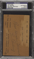 Autographs:Post Cards, 1936 Lou Gehrig Signed Government Postcard PSA/DNA Certified Authentic. ...