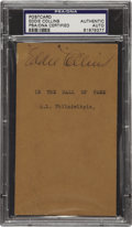 Autographs:Post Cards, 1939 Eddie Collins Signed Government Postcard. Considered one of the greatest bunters and lead-off men in baseball history,...