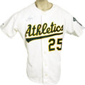 Baseball Collectibles:Uniforms, 1991 Mark McGwire Game Worn Jersey. A fifth consecutive All-Star season for the burly Bash Brother who would briefly reign ...