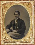 Photography:Tintypes, Cased Quarter Plate Tintype of Union Soldier....
