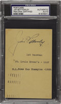 Autographs:Post Cards, 1937 Jim Bottomley Signed Government Postcard. The star first baseman for the great St. Louis Cardinals teams of the 1920's...