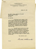 Autographs:U.S. Presidents, Franklin D. Roosevelt: Typed Letter Signed as President of theAmerican Construction Council....