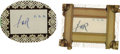 Autographs:U.S. Presidents, Franklin D. Roosevelt: Two Clipped Signatures Mounted.... (Total: 2Items)