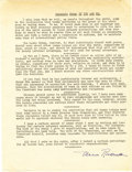 """Autographs:U.S. Presidents, Eleanor Roosevelt: Excerpts from """"If You Ask Me"""" Typed DocumentSigned...."""