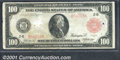 Large Size:Federal Reserve Notes, 1914 $100 Federal Reserve Note Red Seal (New York), Fr-1073, VG...