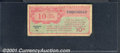 Miscellaneous:Other, Military Payment Certificate, Series 471, 10 cents, VG. ...