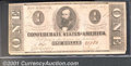 Confederate Notes:1862 Issues, 1862 $1 Clement C. Clay, T-55, VF. A decent example of this sca...