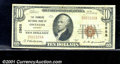 National Bank Notes:Kentucky, Farmers National Bank of Owenton, KY, Charter #2968. 1929 $10 T...