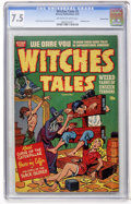Golden Age (1938-1955):Horror, Witches Tales #5 Diamond Run pedigree (Harvey, 1951) CGC VF- 7.5Off-white to white pages....