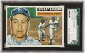 """Baseball Cards:Singles (1950-1959), 1956 Topps Duke Snider #150 SGC 96 Mint 9. """"The Silver Fox"""" came upon the short end with his Brooklyn Dodgers facing Mickey..."""