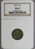 Bust Dimes: , 1829 10C Small 10C MS65 NGC. NGC Census: (16/9). PCGS Population(9/8). Mintage: 770,000. Numismedia Wsl. Price for NGC/PCG...