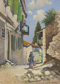 Texas:Early Texas Art - Impressionists, CHARLES HARVI ALTHEIDE (American, 1874-1951). Returning fromMarket, circa 1940s. Oil on canvas. 16 x 22 inches (40.6 x ...