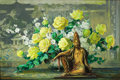 Texas:Early Texas Art - Impressionists, JOHN WILLIAM ORTH (American, 1889-1976). Buddah and YellowRoses. Oil on canvas. 24 x 36 inches (61.0 x 91.4 cm).Signed...
