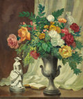 Texas:Early Texas Art - Regionalists, JOHN WILLIAM ORTH (American, 1889-1976). Flowers with Urn.Oil on masonite. 36 x 30 inches (91.4 x 76.2 cm). Signed lowe...