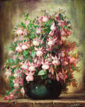 Texas:Early Texas Art - Impressionists, JOHN WILLIAM ORTH (American, 1889-1976). Fuchsias. Oil oncanvas. 30 x 24 inches (76.2 x 61.0 cm). Signed lower right: ...