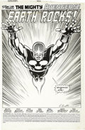 Original Comic Art:Splash Pages, Rich Buckler and Tom Palmer - Avengers #302, Splash Page 1 OriginalArt (Marvel, 1989)....