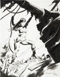 Original Comic Art:Covers, Mike Hoffman - Pirate Woman Pin Up Illustration Original Art(2004)....