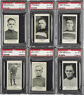 Hockey Cards:Lots, 1924-25 V145-2 William Paterson Cards, PSA-Graded Group Lot of 6.Redeemed in Paterson's chocolate bars, the V145-2 card is...
