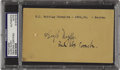 Autographs:Post Cards, 1941 Hugh Duffy Signed Government Postcard. ...