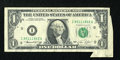 Error Notes:Attached Tabs, Fr. 1908-I $1 1974 Federal Reserve Note. Fine-Very Fine.. ...