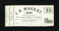 Obsoletes By State:Ohio, Vienna, OH- I.B. Mackey 25¢ (1860's) Wolka 2708-03. ...
