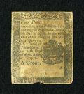 Colonial Notes:Pennsylvania, Pennsylvania April 25, 1776 4d Fine....