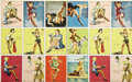 Non-Sport Cards:General, 1944 R59 American Beauties Uncut Sheets Lot of 7. Highlycollectible war era pin-up set helped to remind the boys overseas...